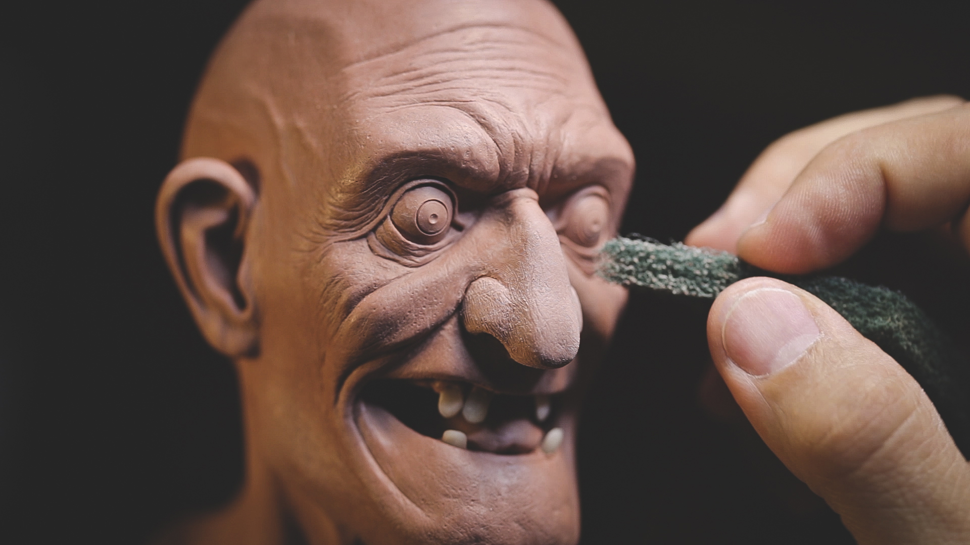 Work in progress of Mad Dr. from Sculpting a Stylized Character Tutorial by sculptor Chris Vierra of Sculpture_Geek.