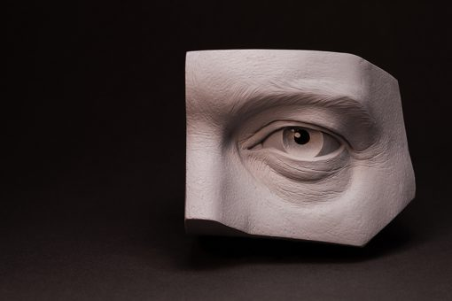 Sculpture_Geek eye study reference casting