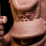 Cranky Kong from Donkey Kong Sketch sculpted live on Twitch by sculptor Chris Vierra or Sculpture_Geek