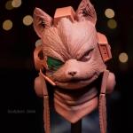 Fox McCloud from Starfox by sculptor Chris Vierra of Sculpture_Geek